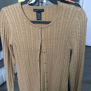 New York & Co Gold Sweater XS